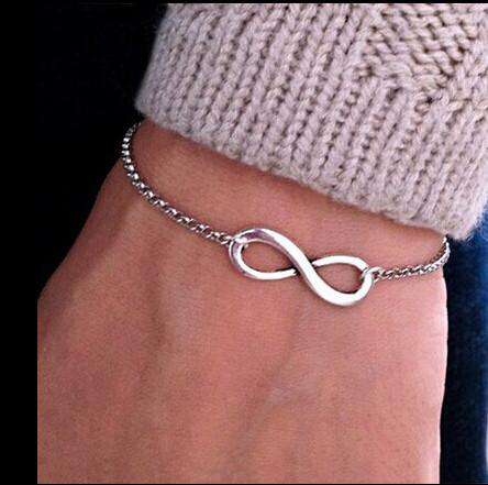 Infinity Chain Bracelet For Women Silver