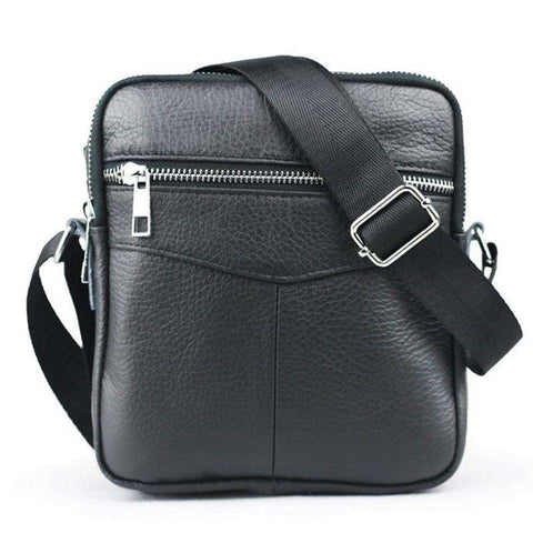 Casual small men's bag genuine leather