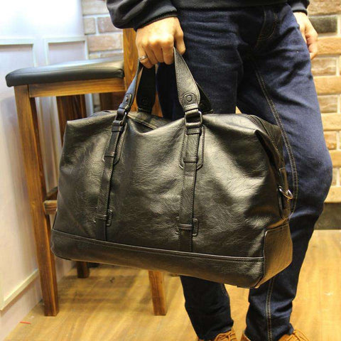 Leather Men's Travel Bags Large Capacity