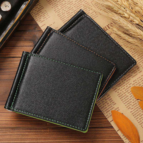PU Leather Men's Money Bag Wallet Short Creative Card Purses & ID Holders