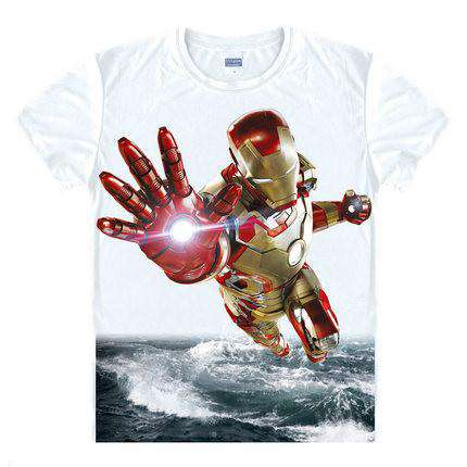 Captain America Iron men 3D Print Tee Shirt