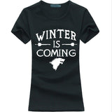 Women T-Shirt Winter Is Coming letter Print Tops