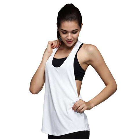 Dry Quick Yoga Loose Gym Fitness Sport Sleeveless Tank Tops