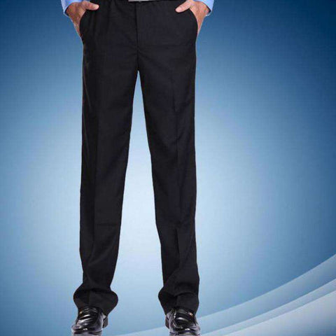 Men's Slim Fit Classical Dress Pants Black