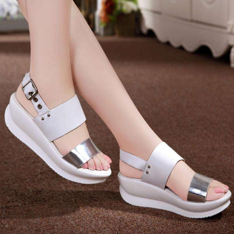 Genuine Soft Leather Women Flats Sandals
