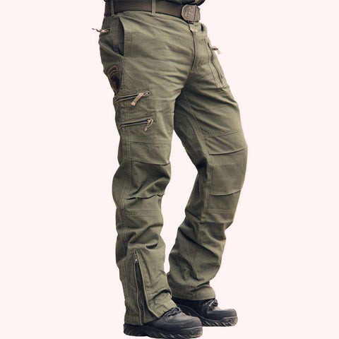 Casual Cotton Breathable Multi Pocket Army Camouflage Cargo Pants