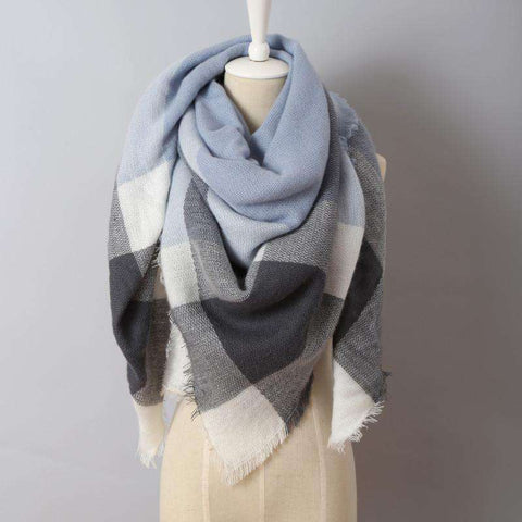 Plaid Scarves Big Size Shawls For Women