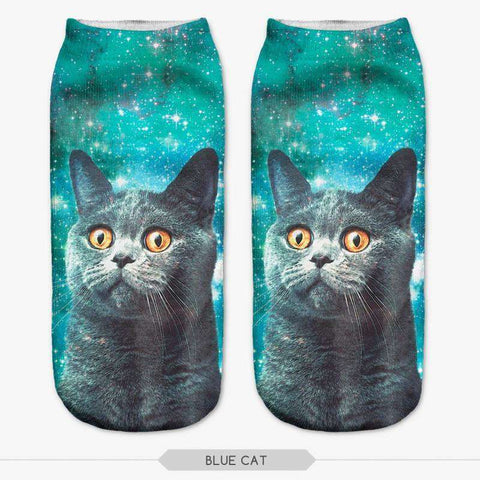 3D Cat Print Women Socks Casual