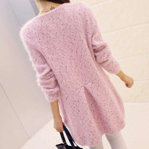 Long Cardigan Women Sweater Casual Long Sleeve