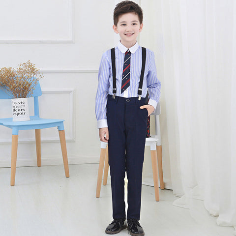 student costume kids clothing set boys party trousers