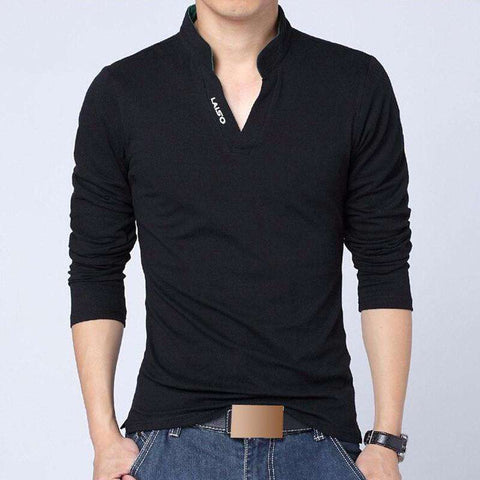 Fashion Brand Men Clothes Slim Fit Solid Long Sleeve