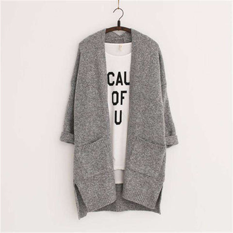 Women Cardigans Winter Brand Long Style Knitted
