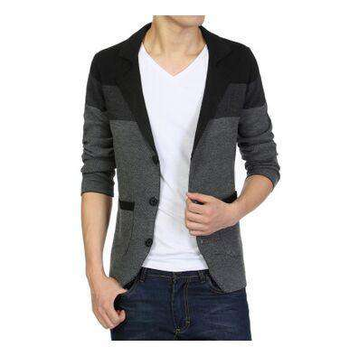 Knitted Sweater Suits Cardigan Long Sleeves Men