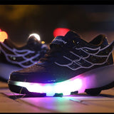 Women LED light Roller Skates Shoes