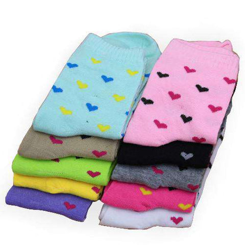Cotton Heart-shaped Design Women Socks