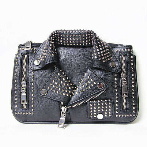 Clutch Fashion Rivet Motorcycle Shoulder Bag