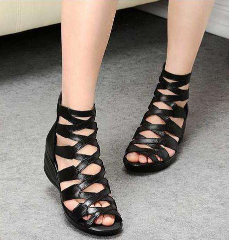 Fashion Sandals Genuine Leather for Women