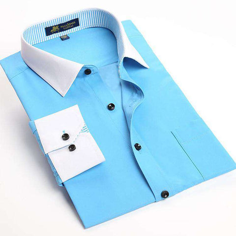 Long Sleeve Men Casual Business Formal Shirt