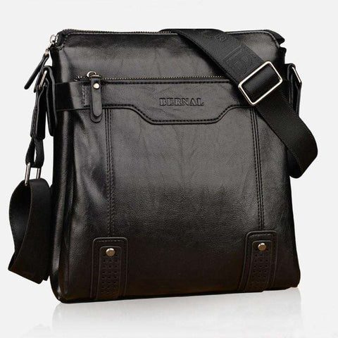 Casual Vintage Leather Messenger Bags for Men