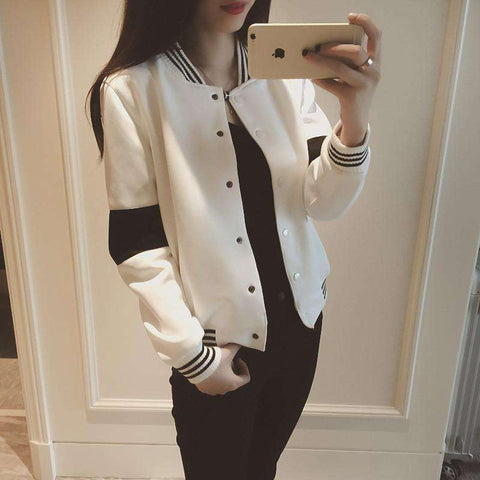 Jacket Female Covered Button Women Coat Cardigan