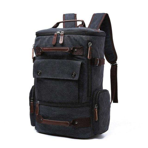 Vintage Backpack Large Capacity Men Travel Canvas Bag