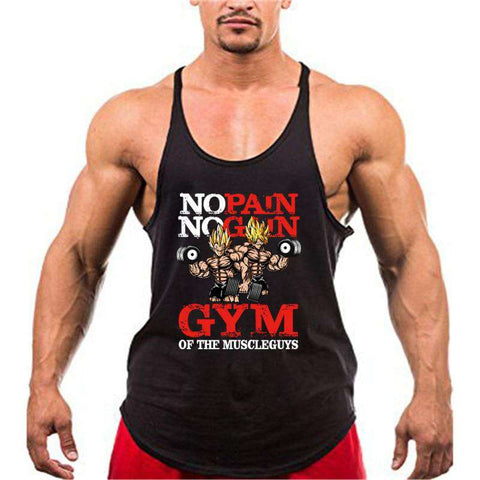 Dragon Ball Anime funny summer Fitness Tank Tops Men