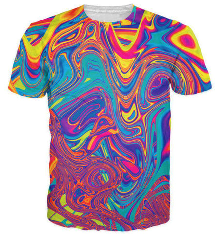 men casual colors 3d Print t shirt