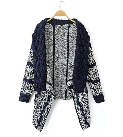 Casual Vintage Women Cardigans Sweater