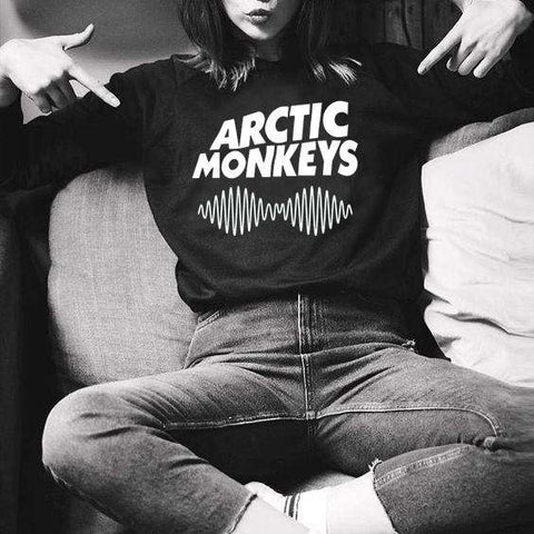 Casual Women Sweatshirt Hoody Arctic Monkeys Letter