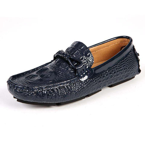 New Arrivals Crocodile Leather Slip-on Shoes Men