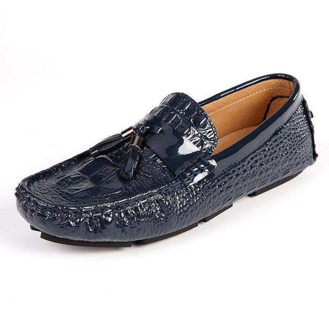 Leather Moccasin Crocodile Slip On Shoes Men