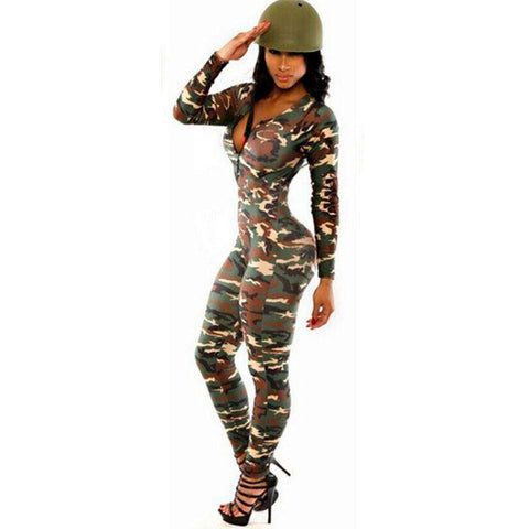 Jumpsuit Romper Fitness Slim Bodysuit Women
