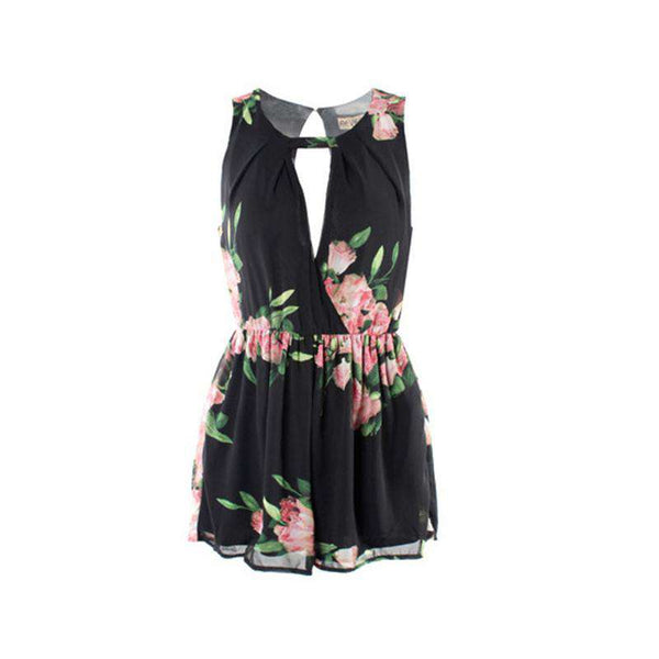 Chiffon Flower Romper Women's Playsuits Jumpsuit