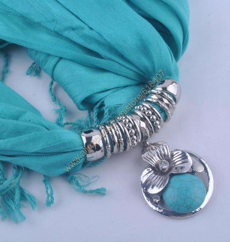 pendant scarf Calaite Alloy Jewelry Scarf Necklace women