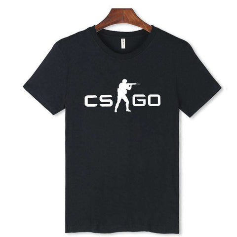 CS GO Men O-Neck Black & White T-Shirt