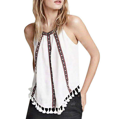 Fashion Tops Casual Suspender Off the shoulder