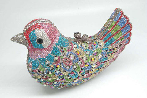 Bird Metal Evening Clutches for Ladies