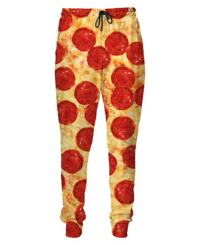 3D Pizza Print Women Jogger Pants Casual