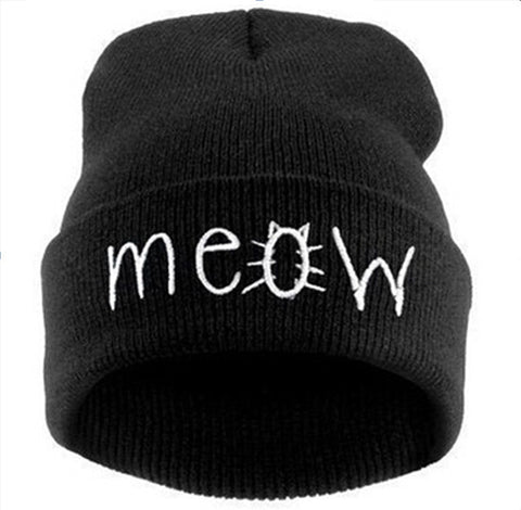 Spring Winter Hats Letters Printed Unisex