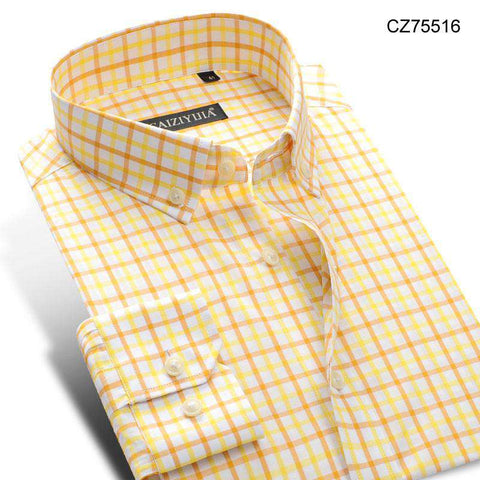 Long Sleeve Button Down Comfort Soft Slim Fit Men's Casual Shirts