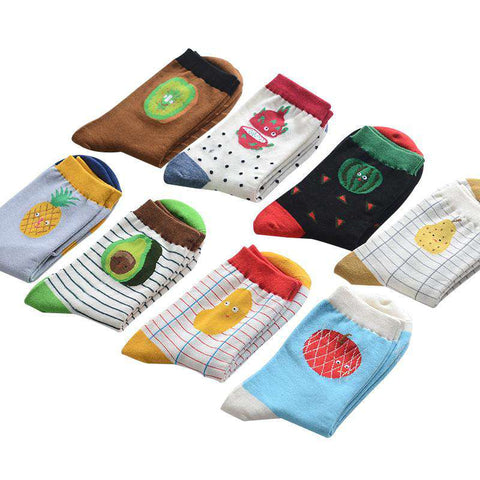 Cute Apple Cotton Socks for Women