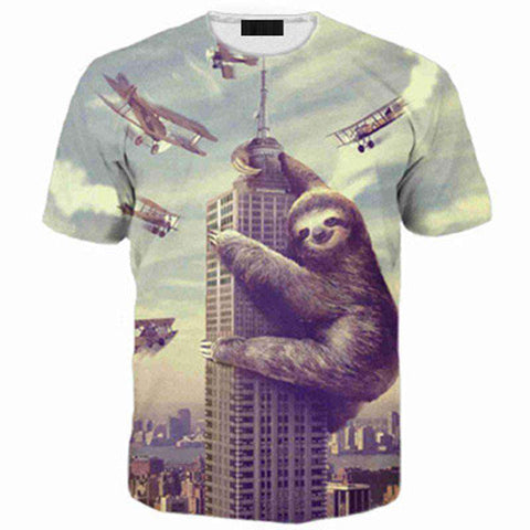 3d Animal Print Men's Casual O-Neck T-Shirts