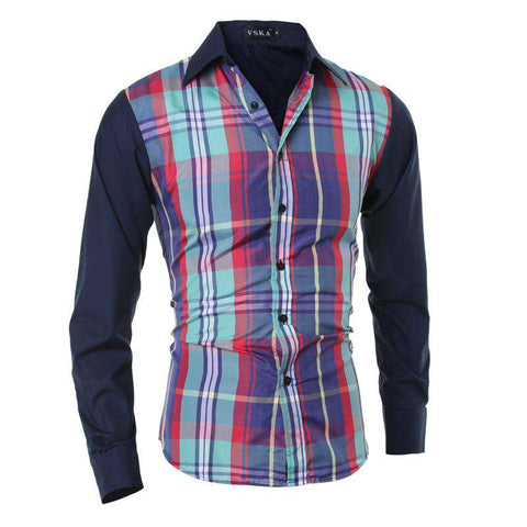 Long sleeve slim fit mens casual shirts