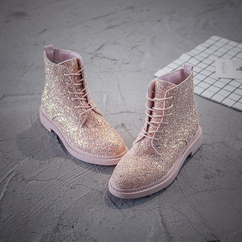Women's Martin Sequins Tooling Boots