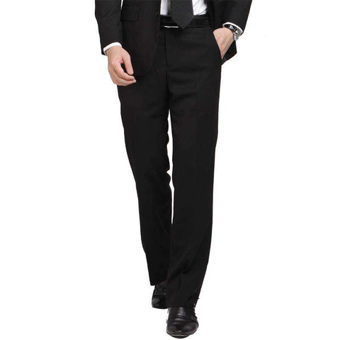 Men Formal Full Length Slim Fit Dress Pants Black