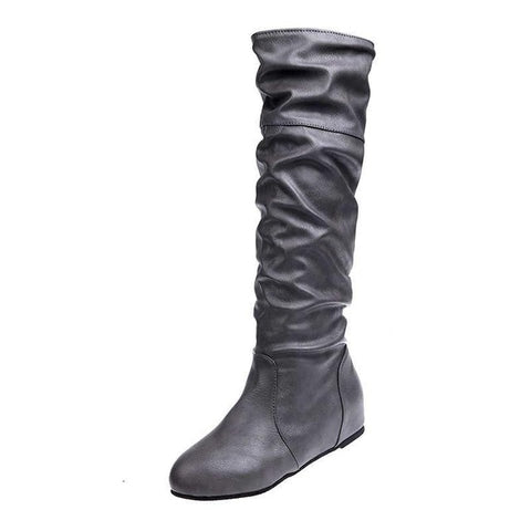 Women Over The Knee Low Heel Boots