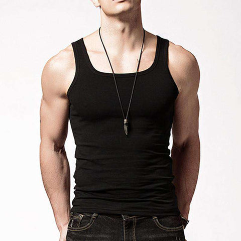 Casual Sleeveless Men Undershirts Cotton fashion tank top