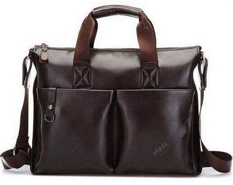 Casual Men's Business Briefcase PU Leather Shoulder Bags
