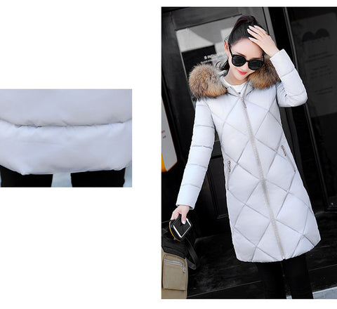 Women Winter Long Hooded Long sleeve Parkas Coat
