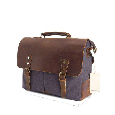 Men Canvas Messenger Satchel 15.6 inch Laptop Shoulder Bag
